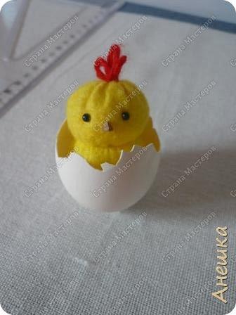 Милые цыплята делаются очень быстро, подходят для работы с детьми, украсят интерьер. Материалы потребуются самые минииальные фото 11