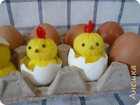 Милые цыплята делаются очень быстро, подходят для работы с детьми, украсят интерьер. Материалы потребуются самые минииальные фото 1