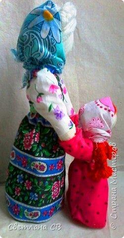 Кукла Ведучка или Ведущая в жизнь, в древние времена делалась женщиной для того чтобы быть мудрой и понимающей матерью, понимать потребности своего ребенка, и вывести его в жизнь. фото 4