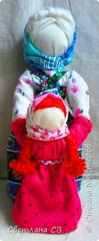 Кукла Ведучка или Ведущая в жизнь, в древние времена делалась женщиной для того чтобы быть мудрой и понимающей матерью, понимать потребности своего ребенка, и вывести его в жизнь. фото 1