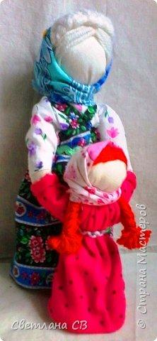 Кукла Ведучка или Ведущая в жизнь, в древние времена делалась женщиной для того чтобы быть мудрой и понимающей матерью, понимать потребности своего ребенка, и вывести его в жизнь. фото 2