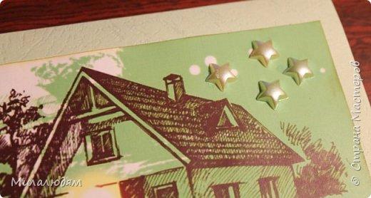 """Здравствуйте, соседи и друзья! Хочу показать совсем простенькую открытку для сына на 23 февраля. Он совсем не """"военская"""", но это сейчас главная тема в его жизни. Он строит дом. Прошлым летом он собрал сруб из бруса, закрыл крышу. А нынче летом планирует отделать первый этаж и к зиме в него войти. А потом уж доделывать второй. Открытка совсем простенькая, даже стыдно перед сыном было, но ТЕМА!!! это его тема, да еще такие картинки классные попались в интернете. Я не смогла пройти мимо них.  Сын только в руки взял и сразу восторг: Алена, Алена (это его жена) посмотри как классно! очень доволен остался. и мне хорошо на душе. фото 2"""