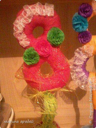 Вот такие топиарчики я сделала на подарки родным и близким на всеми любимый праздник 8 Марта.Идею формы взяла у одной из мастериц у Мокси Оксаны уж очень мне понравились ее работы. фото 6