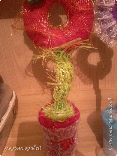 Вот такие топиарчики я сделала на подарки родным и близким на всеми любимый праздник 8 Марта.Идею формы взяла у одной из мастериц у Мокси Оксаны уж очень мне понравились ее работы. фото 7