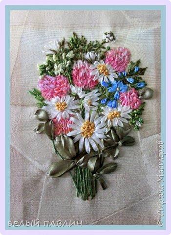 """Вышивка лентами """"Скромный букетик полевых цветов""""... ПРОСТО ТАК ... фото 1"""