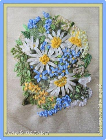 """Вышивка лентами """"Скромный букетик полевых цветов""""... ПРОСТО ТАК ... фото 2"""