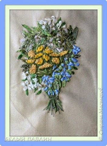 """Вышивка лентами """"Скромный букетик полевых цветов""""... ПРОСТО ТАК ... фото 3"""
