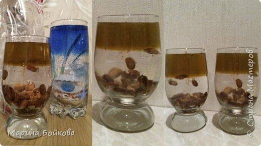 свеча гелевая Морская с ароматом ванили фото 3