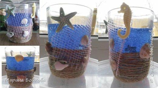 свеча гелевая Морская с ароматом ванили фото 4