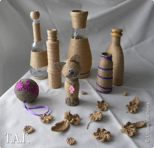 Признаюсь откровенно, что до последнего МК по созданию елочных шаров ( http://stranamasterov.ru/node/1004386 ), никогда дела с джутовым шнуром не имела. Кое что с ним и из него делали дети http://stranamasterov.ru/node/997271 . фото 18