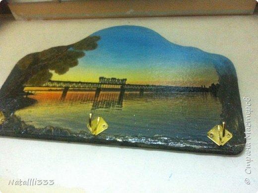 Всем день добрый! Я сегодня с ключницей. Но это не просто картинка из интернета - это фото нашего Кременчугского моста. Обожаю наш город и очень люблю мост. Красота с него - неописуемая. Каждый день через него на работу езжу: живу на правом берегу, работаю на левом))) фото 3