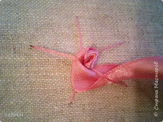 Добрый день предлагаю сшить текстильную корзиночку!  Нам понадобятся: - льняная ткань;  - х/б кружево 2-х видов — узкое и широкое;  - х/б ткань любой расцветки;  - флизелин;  - синтепон;  - нитки в тон, булавки.   Для вышивки лентами понадобятся:  - ленты атласные розового оттенка 2 цветов шириной 12 мм;  - ленты атласные зеленого оттенка шириной 6 мм;  - мулине в тон лент;  - мулине зеленого цвета. фото 11
