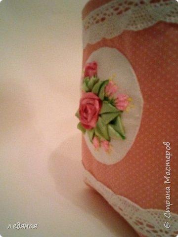 Текстильный короб из нежного хлопка в горошек! Подкладка стеганая на синетпоне. фото 4