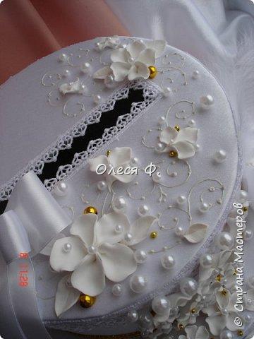 """Свадебный комплект в стиле """"Gatsby"""" . В бело-золотом исполнении, с перьями.  фото 7"""