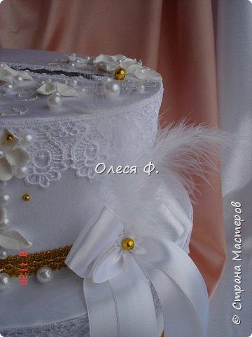 """Свадебный комплект в стиле """"Gatsby"""" . В бело-золотом исполнении, с перьями.  фото 8"""