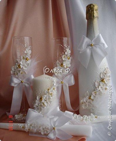 """Свадебный комплект в стиле """"Gatsby"""" . В бело-золотом исполнении, с перьями.  фото 9"""