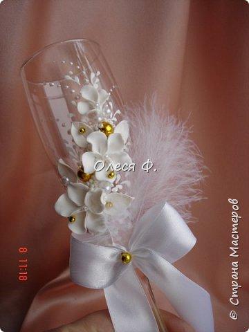 """Свадебный комплект в стиле """"Gatsby"""" . В бело-золотом исполнении, с перьями.  фото 4"""