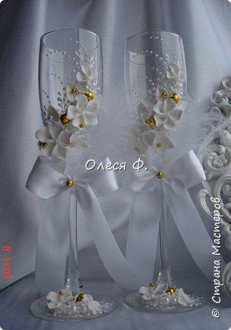 """Свадебный комплект в стиле """"Gatsby"""" . В бело-золотом исполнении, с перьями.  фото 11"""