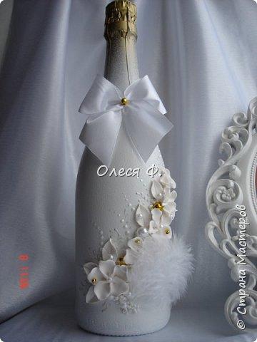 """Свадебный комплект в стиле """"Gatsby"""" . В бело-золотом исполнении, с перьями.  фото 3"""