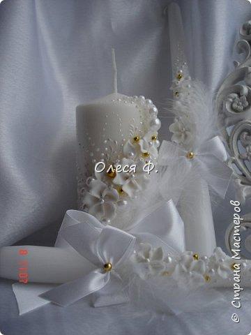 """Свадебный комплект в стиле """"Gatsby"""" . В бело-золотом исполнении, с перьями.  фото 5"""