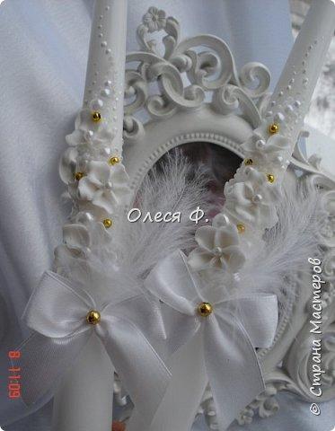 """Свадебный комплект в стиле """"Gatsby"""" . В бело-золотом исполнении, с перьями.  фото 12"""