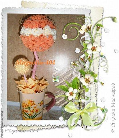 """Доброго времени суток всем!!! Еще одно деревце из серии """"жемчуг+латексные цветочки"""" фото 1"""