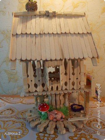 Хочу показать свой теремок. Подсмотрела  МК http://stranamasterov.ru/user/236983. Огромное спасибо за идею. Но я не люблю копировать всегда беру только основу и делаю по своему. фото 4