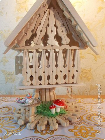 Хочу показать свой теремок. Подсмотрела  МК http://stranamasterov.ru/user/236983. Огромное спасибо за идею. Но я не люблю копировать всегда беру только основу и делаю по своему. фото 5