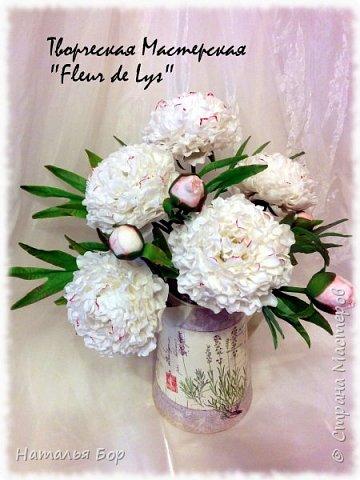 Здравствуйте дорогие жители СМ!!! я сегодня к Вам с моим любимым видом пионов, беленькие с розовыми крапинками)))) фото 4