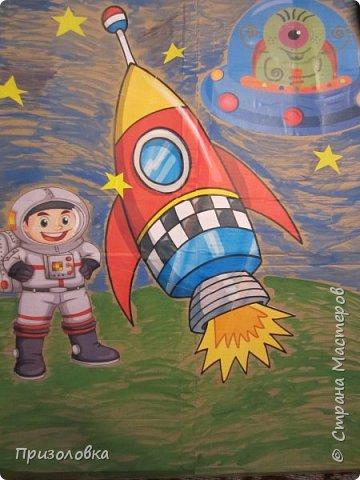 Ну вот и мы отпраздновали свой День рождения в космической тематике. Большое спасибо хочу сказать Марине Лужинской. Практически весь сценарий и оформление взяла у неё, с небольшими изменениями, вот отсюда: http://stranamasterov.ru/node/1001072?c  фото 6