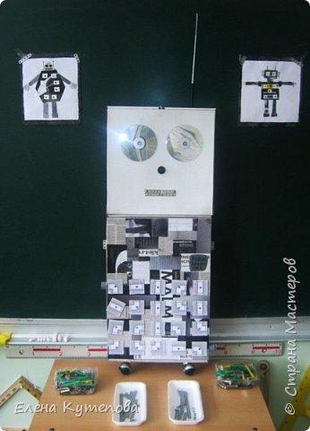 К 23 февраля провела для детей праздник с техническим уклоном.  Дети попали в сборочный цех завода по производству роботов и могли поучаствовать в финальной сборке робота Роботяшки. Перед этим я немного рассказала им историю роботов: кто впервые придумал это слово, когда был создан первый промышленный робот, как назывался первый робот-астронавт. Потом вспомнили самых известных роботов - героев отечественной литературы. фото 3