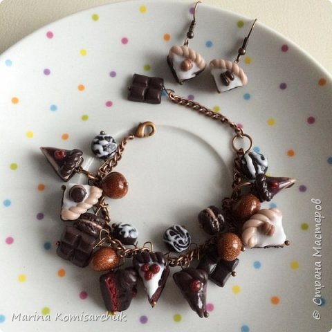 Шоколадные наборы из полимерной глины фото 6