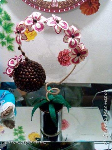 Орхидея из шпагата фото 2