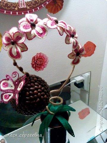 Орхидея из шпагата фото 3