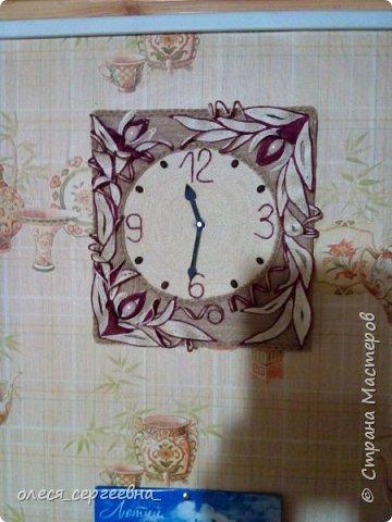 Часы, джутовая филигрань фото 1