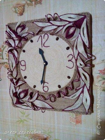 Часы, джутовая филигрань фото 2