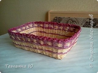Доброго времени суток дорогие мастера и мастерицы! Это мой опыт в плетении квадратных корзинок. Все так ужасно, одно успокаивает, ведь я учусь. Не судите строго Удачного просмотра. фото 6