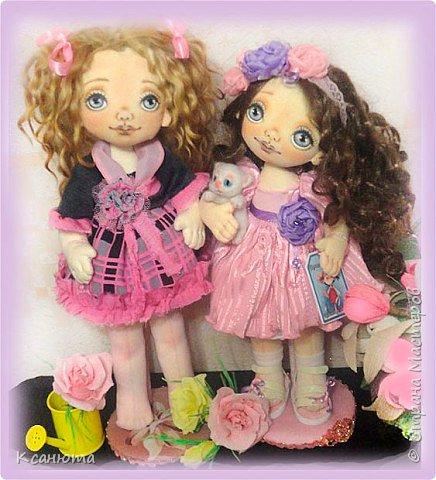 Вот такая девочка розовая-Розочка получилась.Котенок-валяние. фото 10