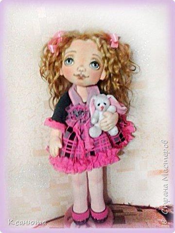 Вот такая девочка розовая-Розочка получилась.Котенок-валяние. фото 9
