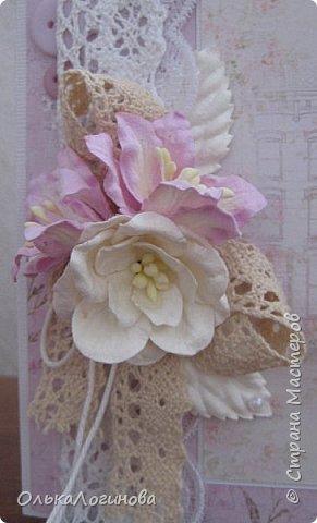 """Здравствуй страна!Продолжаем подготовку к 8 Марта!Открытки с балеринами:основа текстурированный кардсток,бумага для скрапбукинга Scrapberry's коллекция """"Ромео и Джульетта"""",цветы-лилии и магнолии,розы,кружево х/б двух видов,шитье,пуговички,х/б нить,полубусины.  фото 3"""