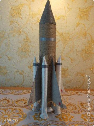 Сделала вот такие подарочки для моих мужчин.Домик  я показывала ранние, а теперь пушка и ракета. фото 6
