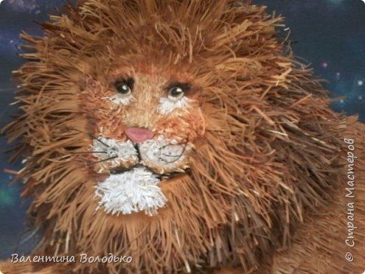 Здравствуйте дорогие мастера и мастерицы!!!Сегодня у меня лев.Сестра моего зятя попросила сделать панно со львом.Она по знаку зодиака -лев.Фон -распечатка зведного неба.На этом фото сделала более светлым,следуещее темный,а какой лучше не могу выбрать. фото 9