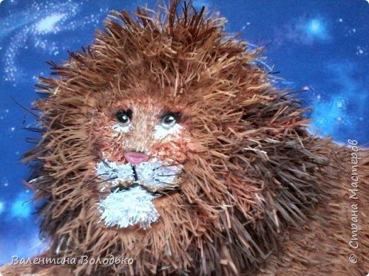 Здравствуйте дорогие мастера и мастерицы!!!Сегодня у меня лев.Сестра моего зятя попросила сделать панно со львом.Она по знаку зодиака -лев.Фон -распечатка зведного неба.На этом фото сделала более светлым,следуещее темный,а какой лучше не могу выбрать. фото 6