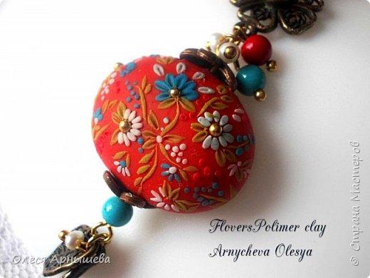 Филигрань цветочная из полимерной глины фото 5