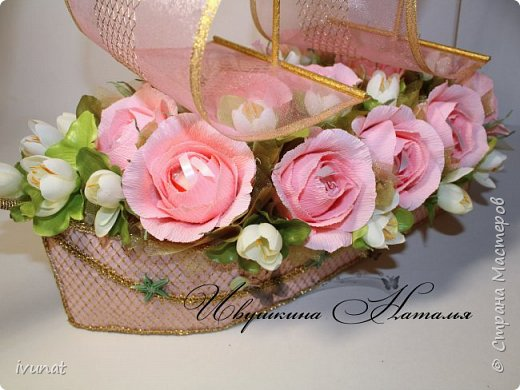 """Заказали что-нибудь на свадьбу. 10 лет, а это """"Розовая"""".   Предложила несколько вариантов - выбрали кораблик. фото 3"""