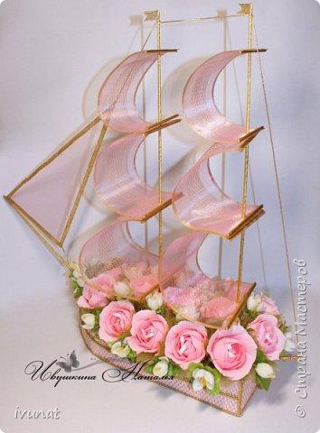 """Заказали что-нибудь на свадьбу. 10 лет, а это """"Розовая"""".   Предложила несколько вариантов - выбрали кораблик. фото 5"""