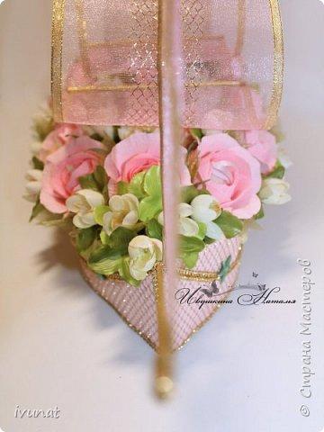 """Заказали что-нибудь на свадьбу. 10 лет, а это """"Розовая"""".   Предложила несколько вариантов - выбрали кораблик. фото 10"""