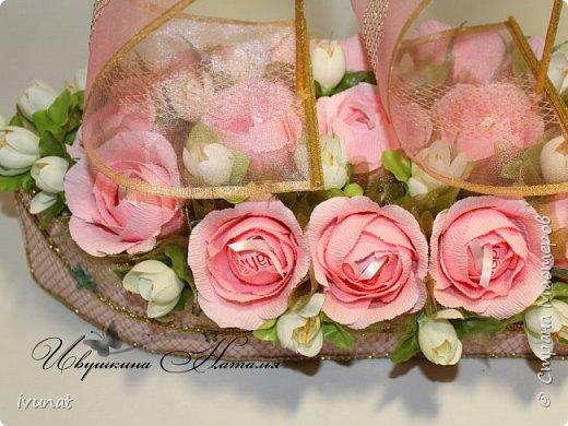 """Заказали что-нибудь на свадьбу. 10 лет, а это """"Розовая"""".   Предложила несколько вариантов - выбрали кораблик. фото 11"""