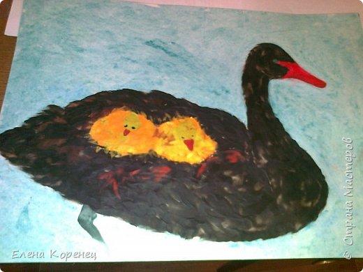 Лебедь,пластилин фото 1