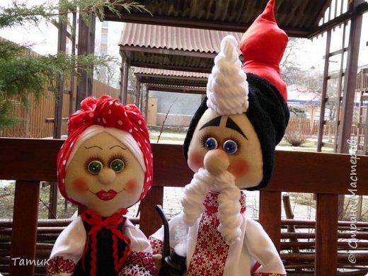 Пара украинцев Валюшка и Борис. Никого не оставляют равнодушными! Высокие Валюшка 50 см., а Борюнчик 72 см. с шапкой.  фото 3